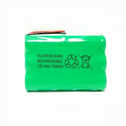 Μπαταρία pack 3 pcs x AAA 3.6V 700mAh Ni-Mh με καλώδιο Code S Fujitron
