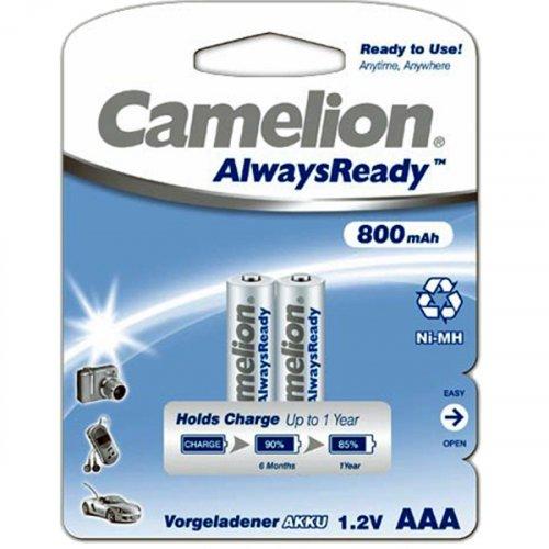 Μπαταρία επαναφορτιζόμενη R03 AAA 1.2V 800mAh Νi-Mh Always Ready BL2pcs Camelion