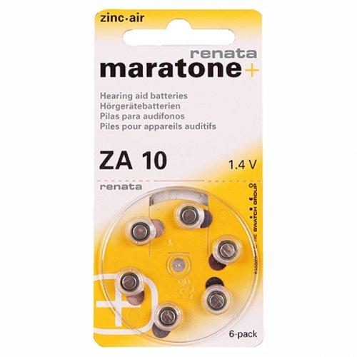 Μπαταρία ακουστικών 6pcs Maratone + ZA 10 Renata