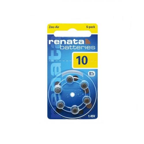 Μπαταρία ακουστικών βαρηκοϊας 1.4V ZA 10 BL6pcs Maratone+ Renata