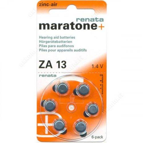 Μπαταρία ακουστικών βαρηκοϊας 1.4V ZA 13 BL6pcs Maratone+  Renata