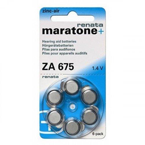 Μπαταρία ακουστικών βαρηκοϊας 1.4V ZA 675 BL6pcs Maratone+ Renata