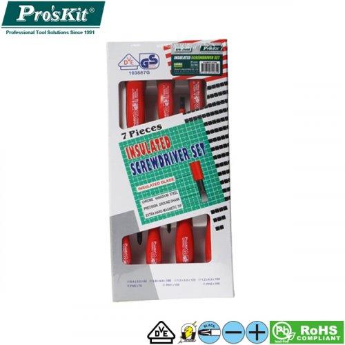 Κατσαβίδια ηλεκτρολογικά VDE Σετ 7τεμ 8PK-8100 Pro'sKit
