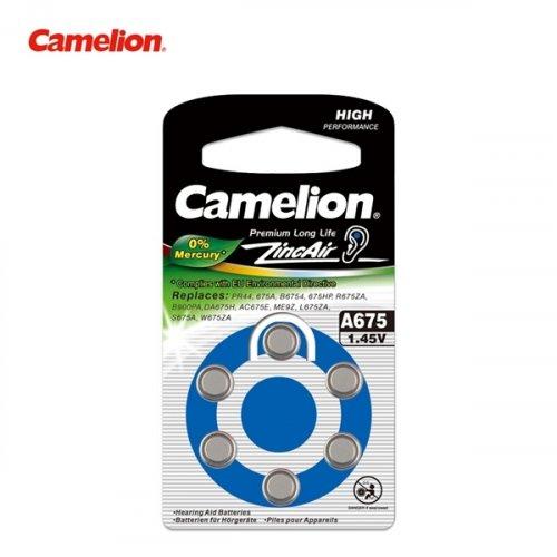 Μπαταρία ακουστικών βαρηκοϊας 1.4V Α675 BL6pcs Camelion