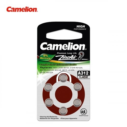Μπαταρία ακουστικών βαρηκοϊας 1.4V Α312 BL6pcs Camelion