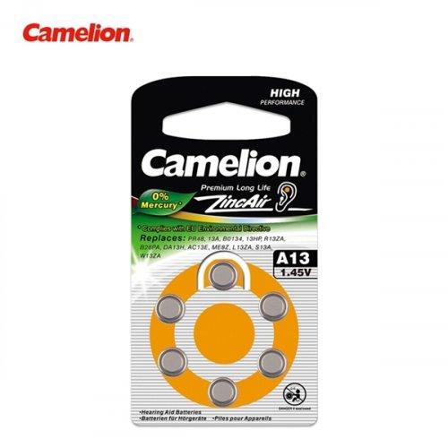 Μπαταρία ακουστικών βαρηκοϊας 1.4V Α10 BL6pcs Camelion