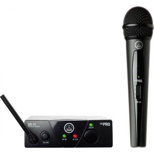 Ασύρματο σύστημα μικροφώνου χειρός 1 συχνότητας UHF WMS40 Pro mini vocal single AKG