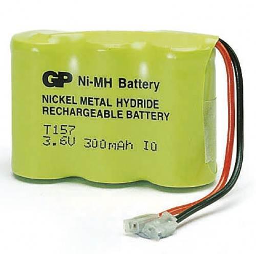 Μπαταρία pack 3 pcs x 2/3 AAA 3.6V 300mAh Ni-Mh 30AAAHX3 T157MU με universal plug Code S GP