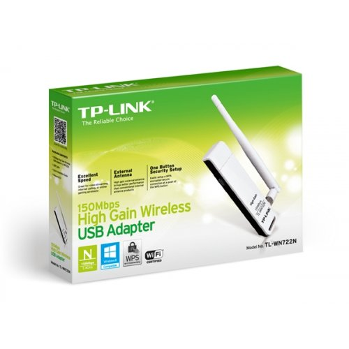 USB Adapter Ασύρματο 150Mbps Υψηλής Απολαβής (Gain) TL-WN722N TP-LINK