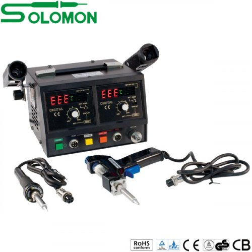 Σταθμός κόλλησης και αποκόλλησης 50W  με οθόνη SL-916D Solomon