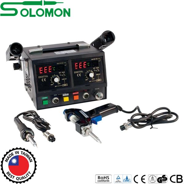 Σταθμός κόλλησης & αποκόλλησης 50W  με οθόνη SL916D Solomon