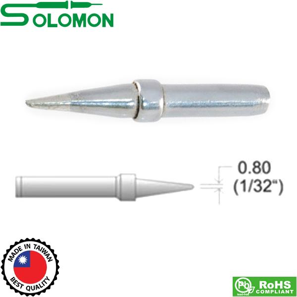 Μύτη κολλητηρίου 822(μακρυά) 0.8mm για το κολλητήρι SL-20I/SL-30I Solomon