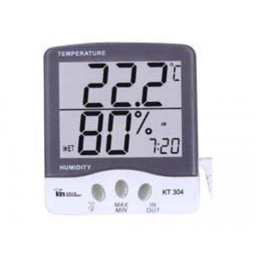 Όργανο ψηφιακό KT-304 Υγρόμετρο-θερμόμετρο-alarm-ρολόι