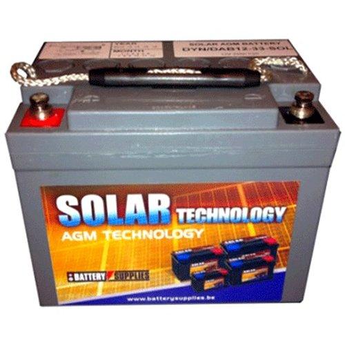 Μπαταρία 12V 33Ah μολύβδου solar βαθιάς εκφόρτισης DAB12-33Sol Dyno Europe