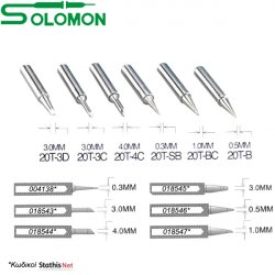 Μύτη κολλητηρίου 20T-BC 1.0 mm για το κολλητήρι SL-20CMC Solomon
