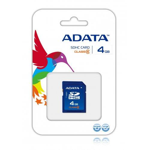 Κάρτα μνήμης SDHC 4GB CLASS 4 ADATA