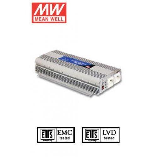 Inverter 24V->230V 1500W A302-1K7-F3 Mean Well Τροποποιημένο ημιτόνου