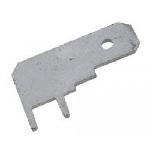 Ακροδέκτης γυμνός συρταρωτός αρσενικός γωνιακός 6.3-2.5mm (805575) CYI