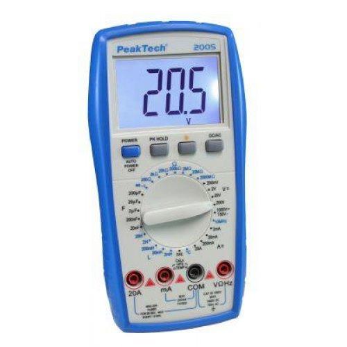 Πολύμετρο ψηφιακό καπασιτόμετρο-πηνιόμετρο P2005 Peaktech