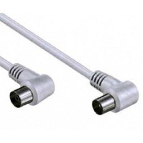 Καλώδιο RF TV αρσενικό -> θηλυκό 3m άσπρο γωνία AV110-06N Lancom