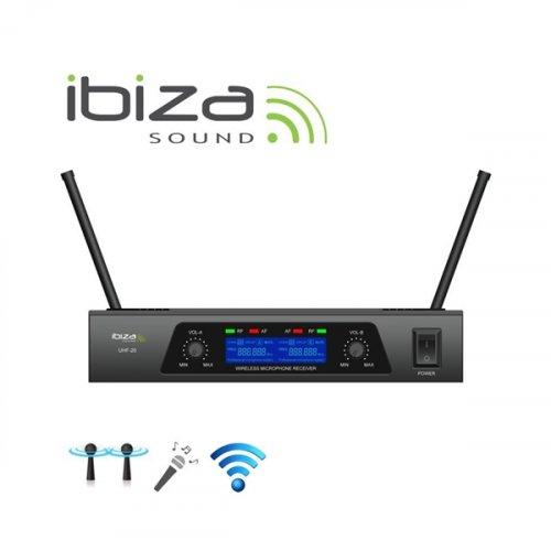 Ασύρματο σύστημα μικροφώνων χειρός 2 συχνοτήτων UHF20 Ibiza Sound