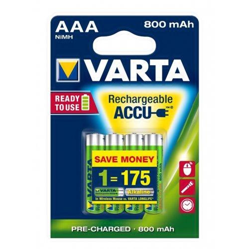 Μπαταρία επαναφορτιζόμενη 1,2V 800mAh LR03 AAA 4pcs pack 56703 VARTA