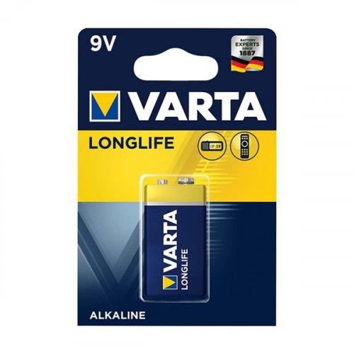 Μπαταρία alkaline 9v 6LR61 4122 LONG LIFE VARTA