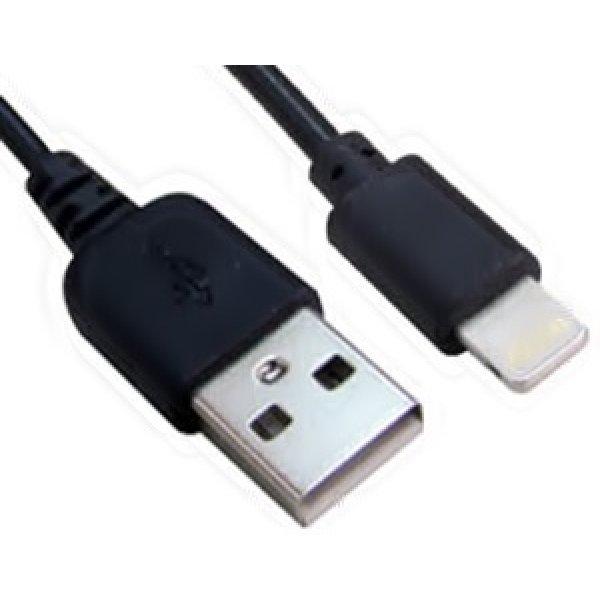 Καλώδιο φόρτισης USB 2.0 για iPhone 5/6 iPad/iPod 1m μαύρο Lancom