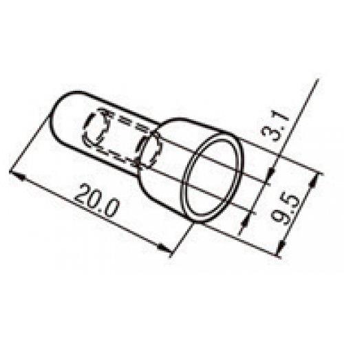 Τερματικά καλωδίων crimp 22~14AWG CE-2X