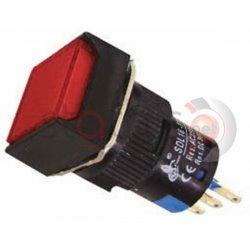 Μπουτόν κόκκινο βιδωτό Φ16  24VAC/DC SDL16-11F