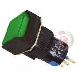 Μπουτόν πράσινο βιδωτό Φ16 με συγκράτηση  24VAC/DC SDL16-11FL