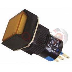 Μπουτόν κίτρινο βιδωτό Φ16 με συγκράτηση  24VAC/DC SDL16-11FL
