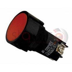 Μπουτόν κόκκινο χωνευτό Φ22 με 3 επαφές (PB2210) EA145