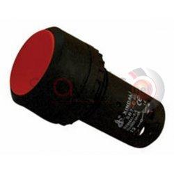 Μπουτόν κόκκινο χωνευτό Φ22 με 4 επαφές CA45