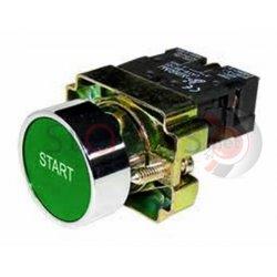 Μπουτόν πράσινο χωνευτό Φ22 1NO με ενδεικτικό START BA5331