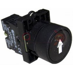 Μπουτόν μαύρο χωνευτό Φ22 1NO με ενδεικτικό Βέλος EA3351