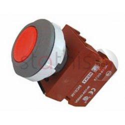 Μπουτόν κόκκινο χωνευτό Φ22 1NC STOP με κεφαλή Φ30 R3PNF-R CNTD