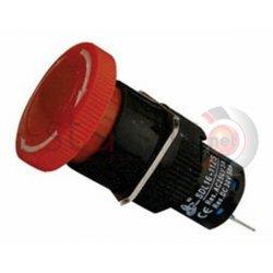 Μπουτόν κόκκινο βιδωτό Φ16 μανιτάρι με συγκράτηση 230VAC SDL16-11ZS