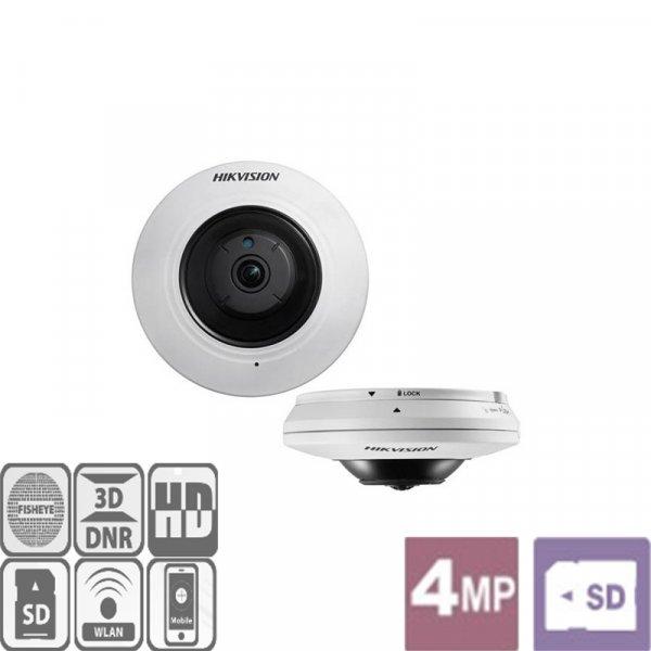 Κάμερα Dome Fisheye IR 1.6mm Turbo-HD 4MP DS-2CD2942F Hikvision