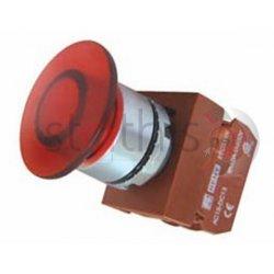 Μπουτόν κόκκινο χωνευτό Φ22 1NC μανιτάρι με λυχνία 24VAC/DC R2PIM4 RNY