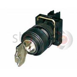 Διακόπτης Φ22 με κλειδί 1-0-2 χωρίς επαφές πλαστικός 1SC1E/J