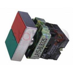 Μπουτόν τετράγωνο χωνευτό Φ22 START-STOP BL8325