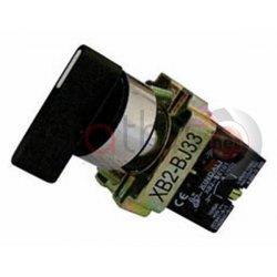 Διακόπτης μαύρος με επαναφορά Φ22 0-1 1NO+1NC BJ45