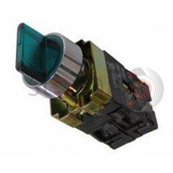Διακόπτης πράσινος Φ22 0-1 1NO+1NC 230VAC με λυχνία BK2365