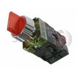 Διακόπτης κόκκινος Φ22 0-1 1NO+1NC 230VAC με λυχνία BK2465