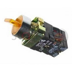 Διακόπτης κίτρινος Φ22 0-1 1NO+1NC 230VAC με λυχνία BK2565