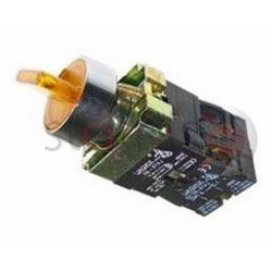 Διακόπτης κίτρινος Φ22 1-0-2 2NO 230VAC με λυχνία BK3565