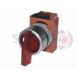 Διακόπτης κόκκινος Φ22 1-0-2 2NO 230VAC με λυχνία R2SIL-R ROHS RNY