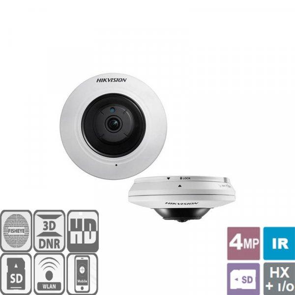 Κάμερα Dome Fisheye IR 1.6mm Turbo-HD 4MP DS-2CD2942F-IS Hikvision