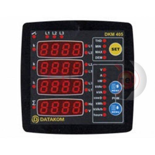 Όργανο πίνακος αμπερόμετρο/βολτόμετρο/συχνόμετρο ψηφιακό AC τριφασικό 96Χ96 DKM-405 DATAKOM